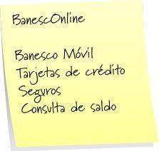 BANESCO online + www.banesco.com banesconline Banco Banesco